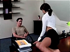 euro, pussy-licking, office
