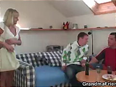 Two partying guys scre...