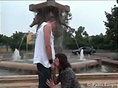 outdoor, blowjob, threesome