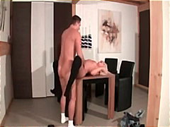 euro, blonde, milf, facial, blowjob,