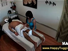 Asian gives body to body massage