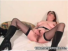 fetish, stockings, red-head, hairy