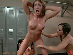 pigtails, strap-on, pussy-licking,