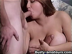 Busty chick Helena fucking two cocks
