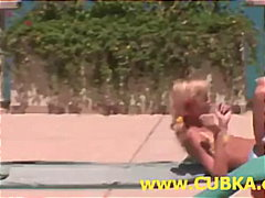Two lesbian chicks having gymnastic minutes