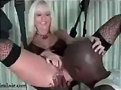 BBC Dominates Slut in Sex Swing