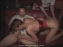 Public risky gangbang ... video