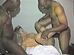 housewife, blonde, vintage, interracial