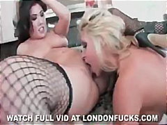 dildo, lesbian, stockings, london keyes, 69, kitchen, toys, tequila woods, lingerie, londonfucks.com, pornstar, fishnet, pussy-licking, asian