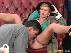 Crazy old mom gets fuc...