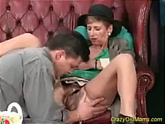 Crazy old mom gets fucked hard and do...