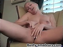 See: Hot blonde autumn toying