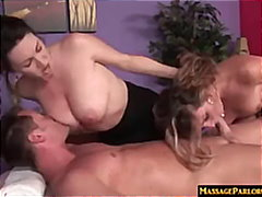 cumshot, milf, titfuck, busty, oil, blowjob, reality, facial, deepthroat, hardcore, natural, threesome