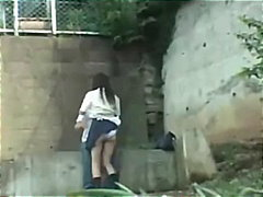 Schoolgirl Having Sex In The Park