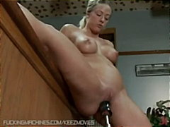 fetish, bigboobs, blonde, solo, close-up,