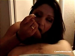 cumshot, swallow, amateur, pov, blowjob, cumonwives.com, homemade, wife
