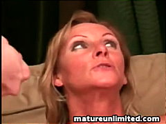 Mature handjob and blo...