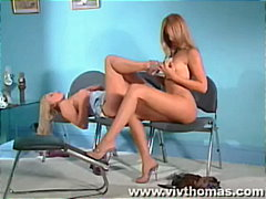 lesbian, feet, dildo, toys, heels, blonde, reality, pussy-licking, girl-on-girl