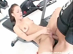 Chick Gets Fucked At Gym