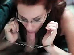 glasses, pov, redhead, blow-job