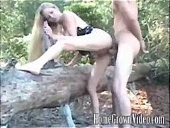 outdoor, blonde, fingering,