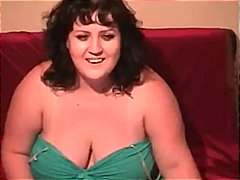 BBW Webcam Striptease video