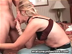 Mature Mom Gobbles The...