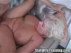 housewife, blowjob, blonde, chubby, milf