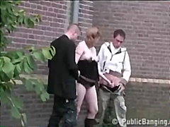 huge-tits, outdoors, group-sex