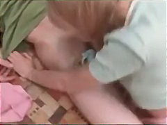 teen, blowjob, blonde, pigtails,
