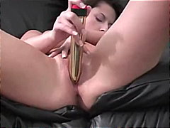 Martina home alone with gold vibrator
