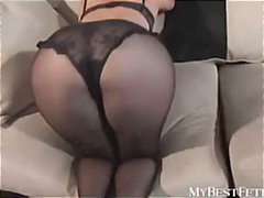 Black pantyhose fetish from Keez Movies