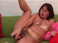 solo, dildo, anal, hairy-pussy, brunette