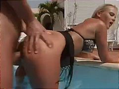 blowjob, pool, ass, facial, blonde