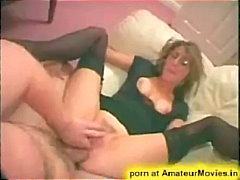 couch, milf, ball-licking, glasses