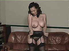 mom, stockings, brunette, solo