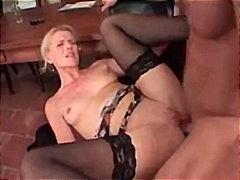 Geman whore fucked while wearing pantyhose
