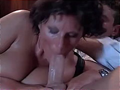 brunette, mature, tits, riding, ass, lingerie, stockings, tittyfuck, handjob, doggystyle, cumshot, european, mouth, milf, reality, blowjob, anal