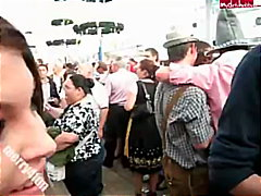 Public Blowjob At Oktoberfest!
