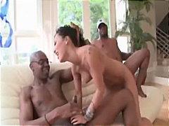 interracial, black, double-blowjob