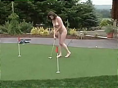 Playing Golf For The Viewers!
