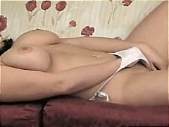 Hot Amateur Busty Girl Fingering Her Lonely Twat