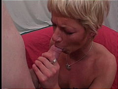 mature amateur, big cock, granny, foursome