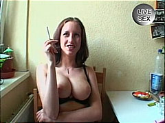 Horny amateur german slut opens sweet...