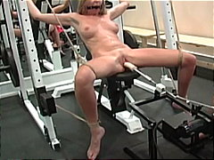 extreme, shaved pussy, painful, bondage, vibrator, busty, platinum blonde, rough fuck, slave, dildo