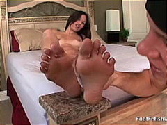 feet licking, big cock, beauty,