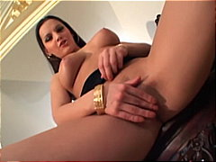 PornerBros Movie:Lovely brunette babe fingering...