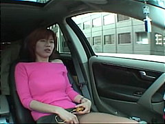 chick, gorgeous, car, masturbating