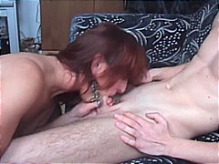 Horny granny fucked by a young hard cock