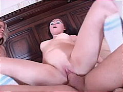 deepthroat, rough fuck, big cock, gagging, ffm, cowgirl, beauty, 3some